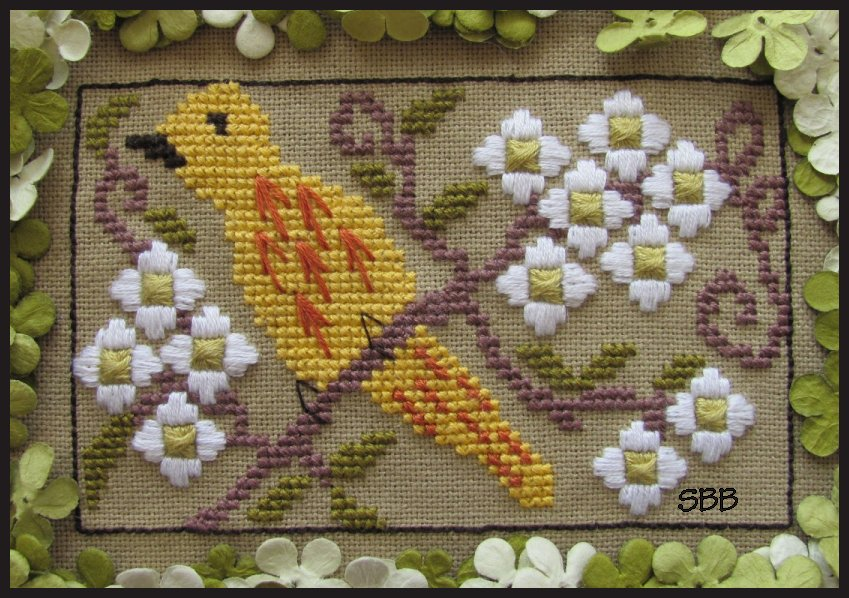 By The Bay Needleart Birds Of A Funky Feather #7