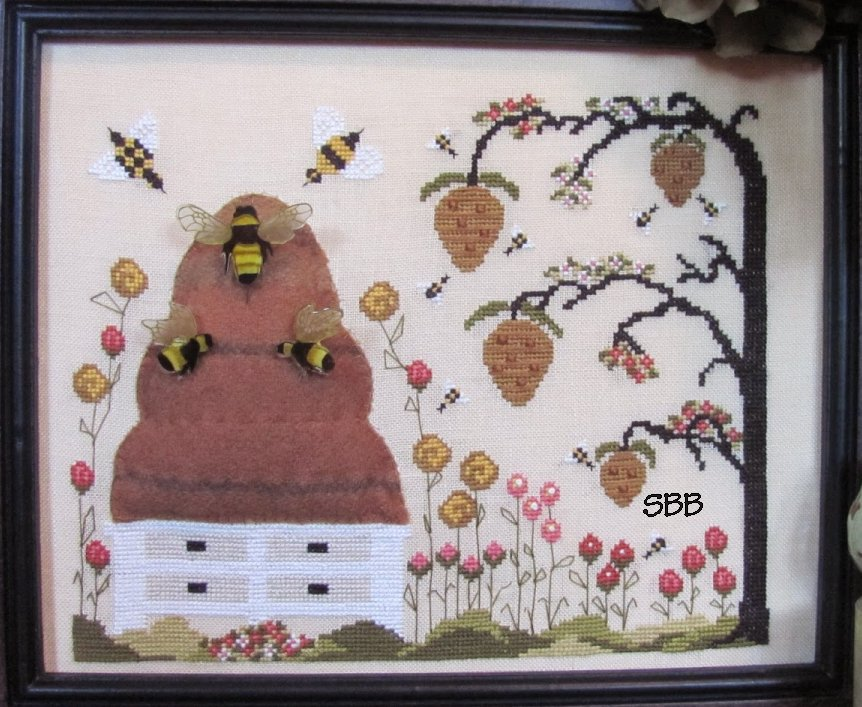 By The Bay Needleart Blossoms & Bees With Wool