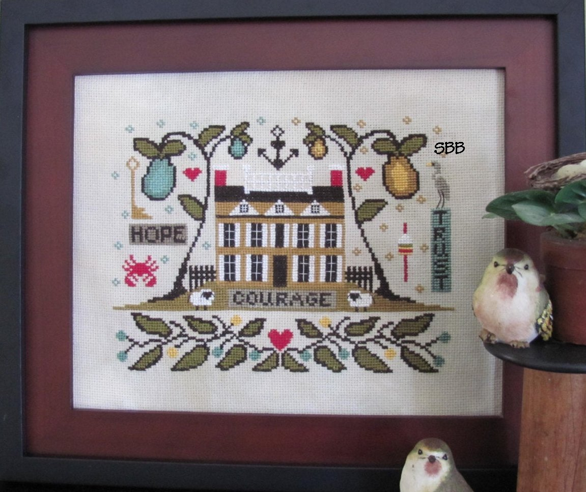 By The Bay Needleart Old Sea Captain's House