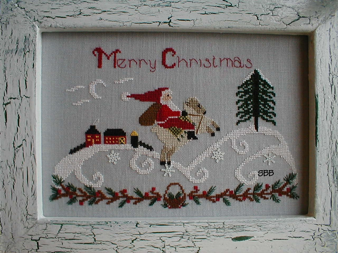 By The Bay Needleart Santa In The Country
