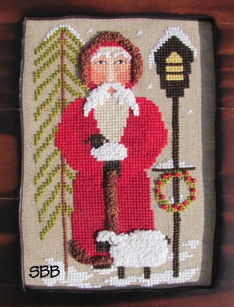By The Bay Needleart Santa Tending The Sheep