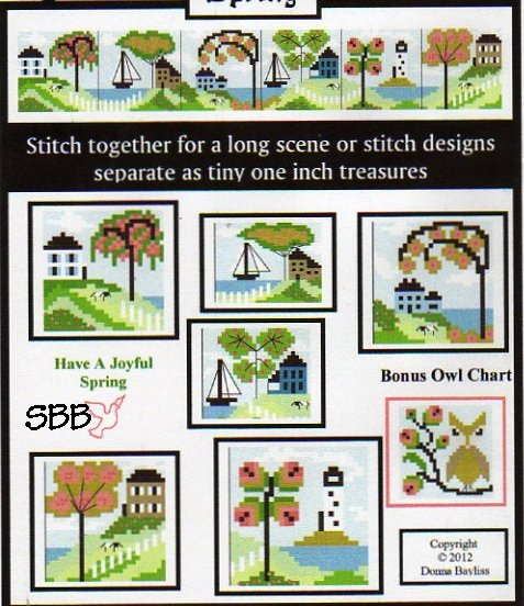 By The Bay Needleart Stitch An Inch Spring