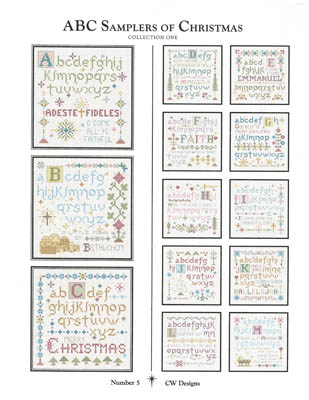 CW Designs ABC Samplers Of Christmas #1