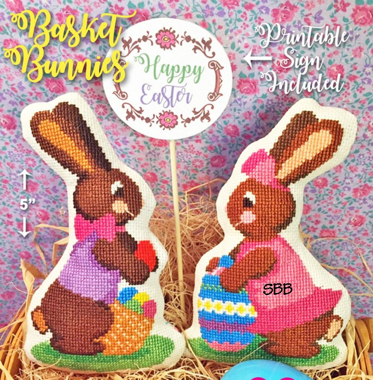 Calico Confectionery Basket Bunnies #32076
