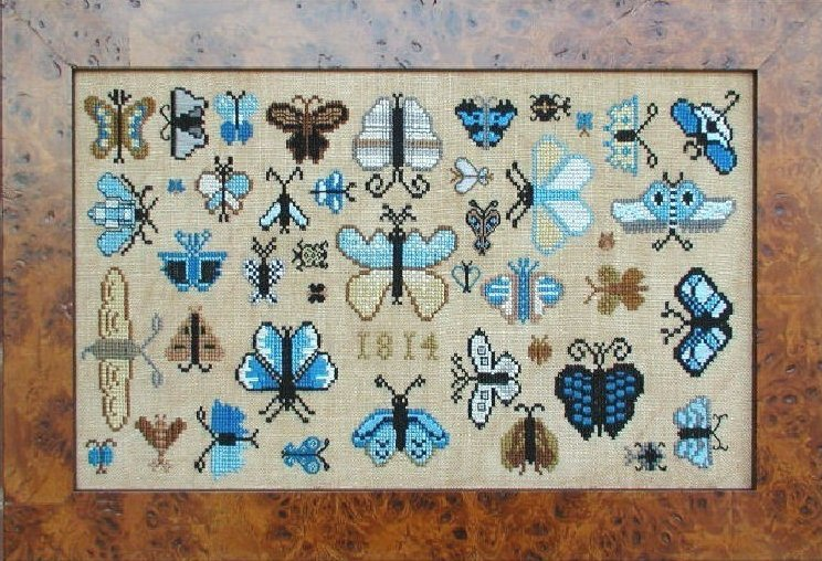 Carriage House Samplings1814 Butterfly Collection
