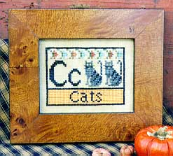Carriage House Samplings Cats Alphabet Block