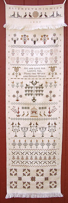 Carriage House Samplings Elizabeth Minnich Decorated Towel