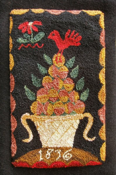 Carriage House Samplings Fruit & Flowers Punchneedle