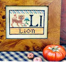 Carriage House Samplings Lion Alphabet Block