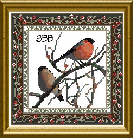 Chatelaine Bird Tapestries 1 ~ Bullfinch