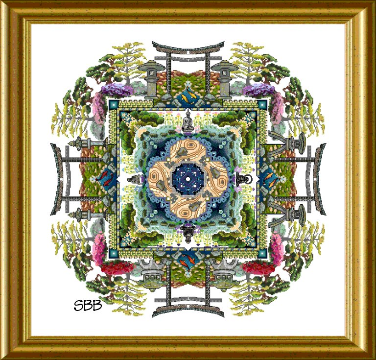Chatelaine The Japanese Moss Garden Mandala