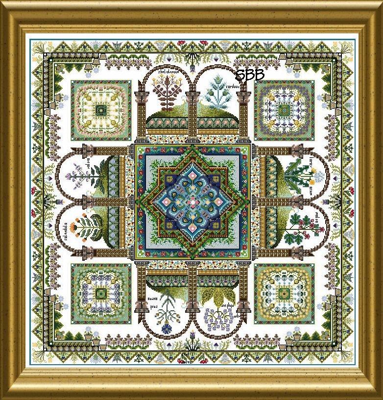 Chatelaine The Herbularius Garden Mandala