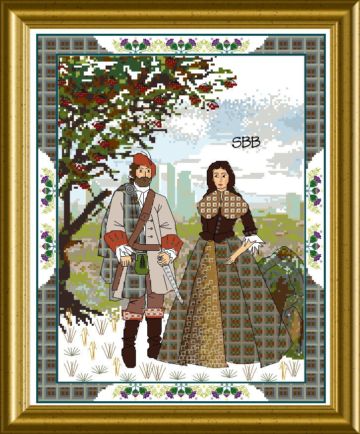 Chatelaine The Scottish Lovers Tapestry B