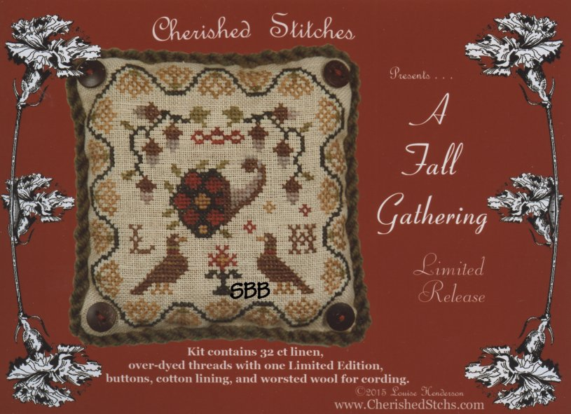Cherished Stitches Limited Edition  A Fall Gathering Kit
