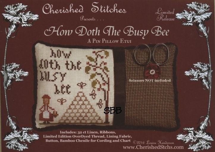 Cherished Stitches  Limited Edition  How Doth The Busy Bee Kit