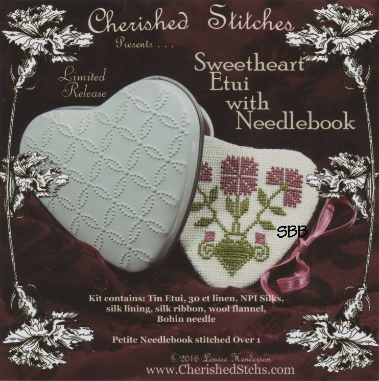 Cherished Stitches  Limited Edition  Sweetheart Etui With Needlebook Kit