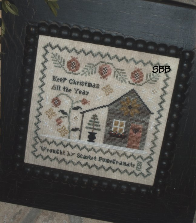 Chessie & Me Scarlet's Christmas Sampler with Linen
