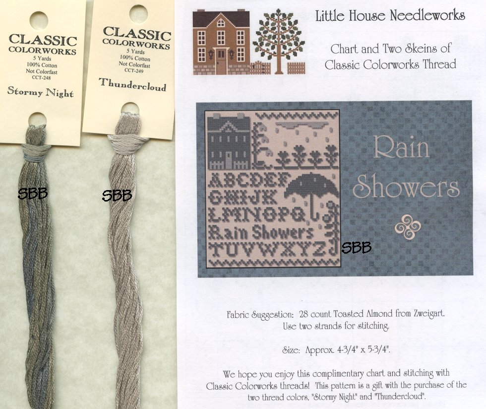 Classic Colorworks Chart by Little House NeedleworksRain Showers