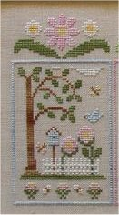 Clearance Crescent Colours & Country Cottage Needleworks#1 Birdhouse Garden