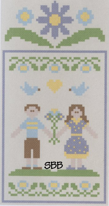 Clearance Crescent Colours & Country Cottage Needleworks#4 Lovebird Couple