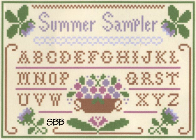 Clearance Crescent Colours & Little House Needleworks Summer Sampler - Silk