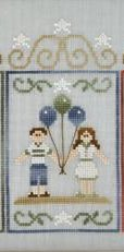 Clearance Crescent Colours & Country Cottage Needleworks#4 Beach Couple