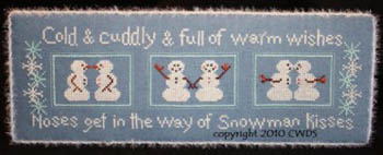 CherryWood Design Studio Closeout Snowman Kisses