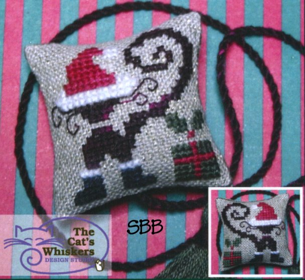 Clearance The Cat's Whiskers Design Studio  Krazy Kitties ~ Christmas Kitty