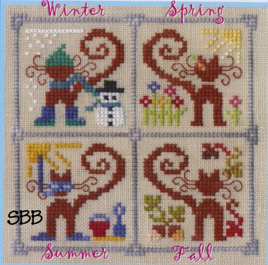Clearance The Cat's Whiskers Design Studio Krazy Kitties ~ Four Seasons