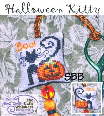 Clearance The Cat's Whiskers Design Studio Krazy Kitties ~ Halloween Kitty
