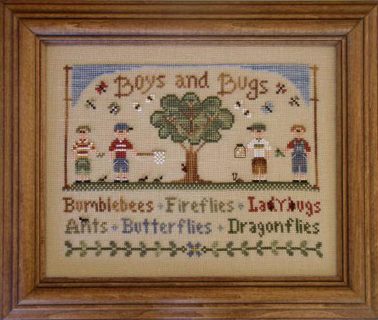 Country Cottage Needleworks Boys and Bugs