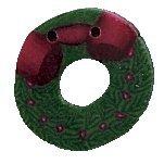 Country Cottage NeedleworksJABCo 9669/nh1025.T Tiny Wreath For Santa's Village #11 Elves' Workshop