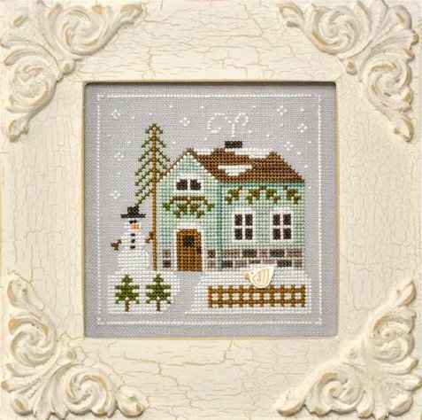 Country Cottage Needleworks Frosty Forest #3 ~ Snowman's Cottage
