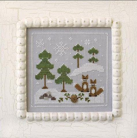 Country Cottage Needleworks Frosty Forest #6 ~ Snowy Foxes