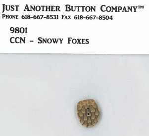 Country Cottage Needleworks JABCo 9801/2258.S Small Pine Cone for Frosty Forest #6 ~ Snowy Foxes