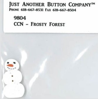 Country Cottage Needleworks JABCo 9804/4485.L Large Primitive Snowman for Frosty Friends #9 ~ Frosty Forest