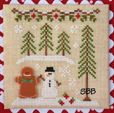 Country Cottage Needleworks Gingerbread Village #7 of 11 ~ Gingerbread Boy & Snowman