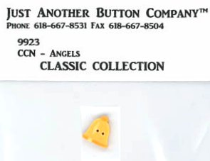 Country Cottage Needleworks Classic Collection #1 Angels ~ JABCo Button 9923/4638.T Tiny Gold Bell