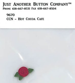 Country Cottage NeedleworksJABCo 9670/2262.T Tiny Red Rose For Santa's Village #12 Hot Cocoa Cafe