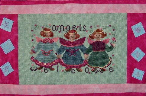 Country Garden Stitchery Angels Welcome