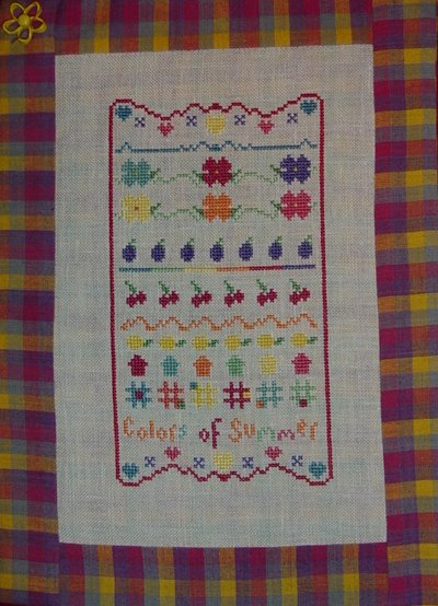 Country Garden Stitchery Colors of Summer Sampler