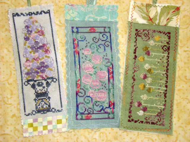 Country Garden Stitchery Flower Bookmark Set