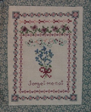 Country Garden Stitchery Forget-Me-Not