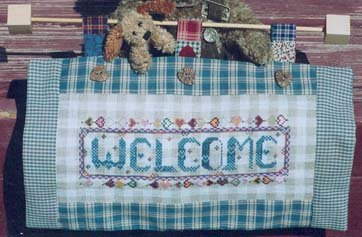 Country Garden Stitchery Gingham Welcome