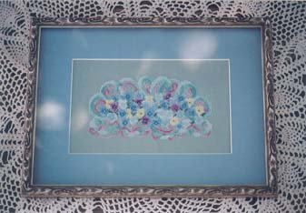 Country Garden Stitchery Johnny Jumped Up Blue