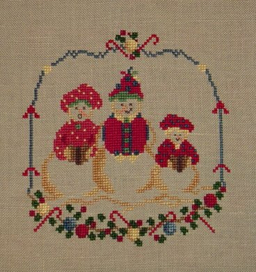 Country Garden Stitchery Little Family Made of Snow A