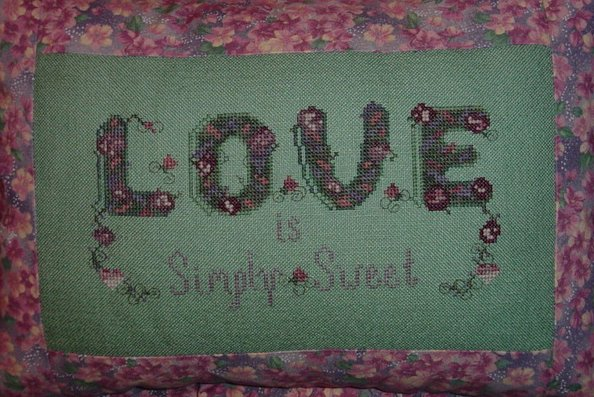Country Garden Stitchery Love Is Simply Sweet