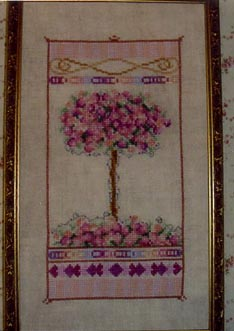 Country Garden Stitchery Rose Tree In Bloom