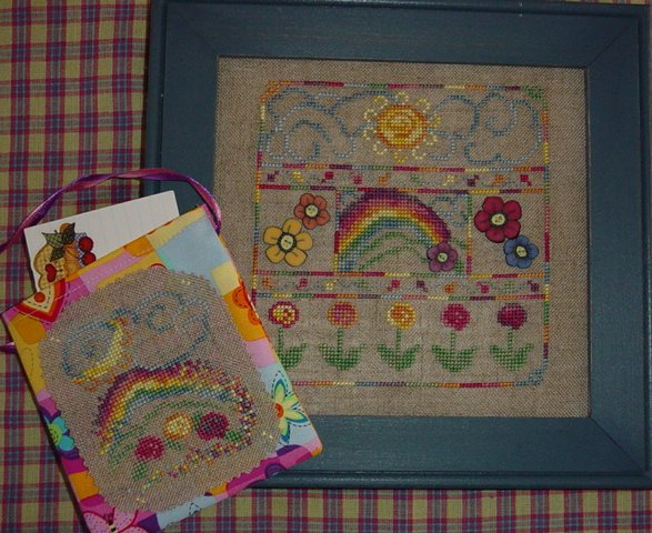 Country Garden Stitchery Summer Rainbow & Friendship Pouch