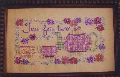 Country Garden Stitchery Tea For Two